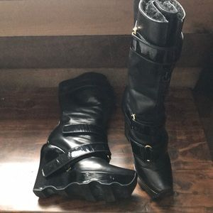 Louis Vuitton Leather Wedge Boots